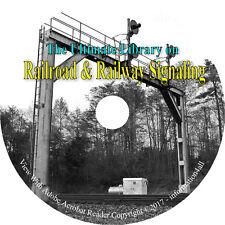 Railroad Railway Signaling Signal Circuits Train Tracks Locomotives Books CD