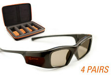 EPSON-Compatible 3ACTIVE® 3D Glasses. Rechargeable. FOUR PACK