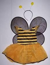 Gymboree Bumble Bee Costume Set 3-4 Dress Wings Headband Halloween 3 4