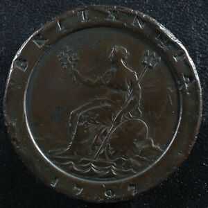 2 pence 1797 Great Britain KM#619 Copper GB Grande-Bretagne Love token?