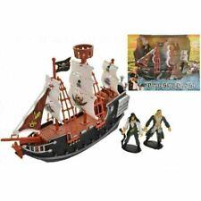 Modelo Plástico Niños Conjunto de Juego Barco Pirata con 2 Figuras De Acción De Juguete Barco 3 años +