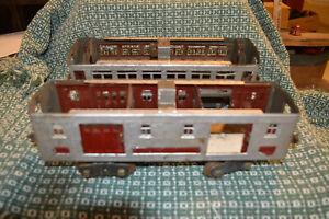2 Lionel Standard Gauge Prewar Passenger Cars for Parts or Restoration