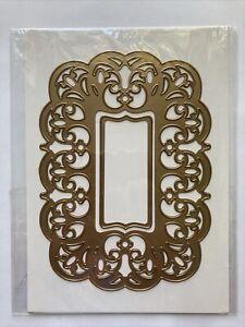 "Anna Griffin 5 x 7"" Flourish Card Frame Embossing Stencils Cutting Dies"