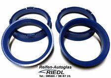 4x Zentrierringe Ringe für Alufelgen Felgen Ø 66,6 auf Ø 57,1 mm blau *NEU*