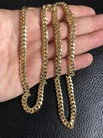 "Men's Solid 14k Yellow Gold 6mm Miami Cuban Link Chain 24"" 25 Grams Semi Hollow"