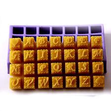 28 cavidad Alfabeto Silicona Jabón Molde h0095 libre de envío