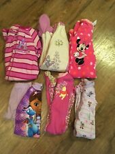 Girls size 18 Months Fall / Winter Pajamas Lot of 7 -Disney~Fleece & Cotton~EC