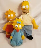 Vintage 1990 The Simpsons Burger King Plush Doll  Figure Lot Maggie, Lisa,Homer