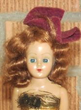 """Vintage Doll~7 1/2""""~Red Hair~Blue eyes open & shut~Painted on shoes~Arms move"""