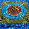 COUVRE-LIT COUVERTURE buddha-mantra Batik Drap OM MANI Yoga colorant