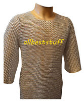 Butted ChainMail Shirt Aluminum Chainmail LARP, SCA,Silver Anodizing A1