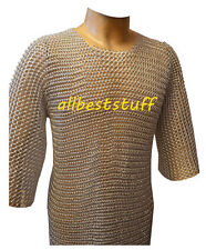 Lightweight Aluminum Chainmail Shirt 10-15 yrs child Medieval Costume A1