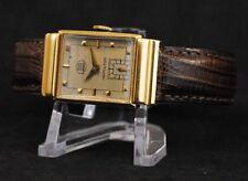 Hamilton Gordon Vintage Watch 18K Yellow Gold 19 Jewels Cal. 982 Runs SOS Dial