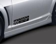MAZDA RACING 3 5 7 RX7 RX8 Miata Mazdaspeed Decal sticker emblem logo BLK Pair