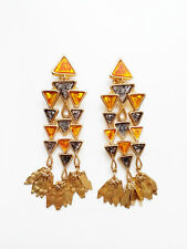 Authentic Tory Burch TRIANGLE CHANDELIER EARRINGS