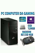 PC COMPUTER DESKTOP RICONDIZIONATO GAMING QUAD CORE i5/8GB/120GB SSD/500GB/USB 3