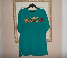 Mens NIKE AIR Lebron dri fit tee shirt size 2XL XXL short sleeve green top shoes