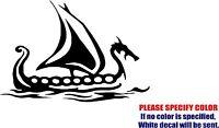 "Viking Ship Decal Sticker JDM Funny Vinyl Car Window Bumper Truck Laptop 7"""