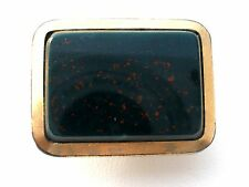 Victorian Bloodstone Tuxedo Button Stud Gold Plated Cufflink Single Gemstone