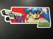 HOOK-UPS Logo Skate Sticker DETONATOR skateboards helmets decal hentai
