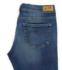 NWT DIESEL Women's Med Wash 0830E Louvboot Slim Boot Cut Denim Jeans 32 x 32