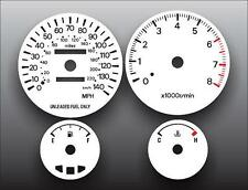 1994-1995 Mitsubishi Galant Dash Instrument Cluster White Face Gauges