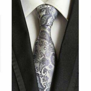 Men's Classic 100% Silk Paisley Tie JACQUARD WOVEN Necktie Wedding Formal Ties
