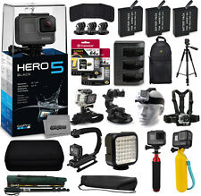 GoPro HERO5 Black Camera + 128GB, 3 Battery, Backpack, Floatie, 5 Mounts & More