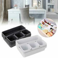 8 Piece Plastic Drawer Office Desk Organiser Kitchen Bathroom Drawer Tidy Boxes