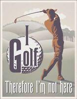 I Golf Vintage Retro Tin Metal Sign 13 x 16in