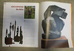 Vernissage Kunstheft mit 4 Seiten Max Müller Artikel und Bildern