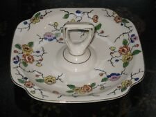 Vintage Serving Plate With Handle Floral Flowers Made in Japan