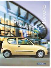 Prospekt / Brochure Fiat Seicento 06/2004