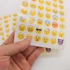 Popular 4 Sheets Emoji Smile Style Stickers For Laptops Notebook Scrapbook Decal