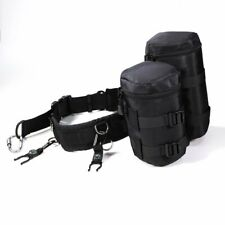 Caden Cámara Ajustable Cintura Cinturón Lente bolsa titular bolsa titular Pack Correa SP