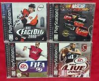 4 Sport Games Lot - Playstation 1 2 PS1 PS2 Fifa Soccer NHL Hockey NBA Nascar