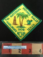 PATCH NCHA HARLINGEN TEXAS RETIREE RALLY TRAVEL SOUVENIR VINTAGE 58SS ex