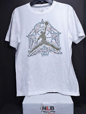 Air Jordan Retro T-Shirt Men's Small WHITE SUPER STAR (Original Jordan Wear)