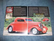 "1935 Chevy 3-Window Coupe Street Rod Article ""Weathering Fair's Friends"""