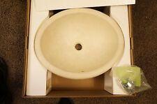 Swanstone TR01815HL.126 A4917Xcpn Classics Hilo Vessel Bathroom Sink Cloud Bone