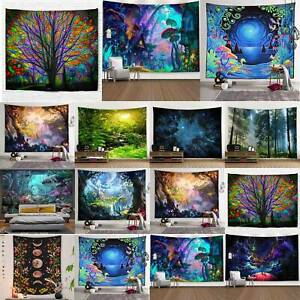 Hippie Gypsy Forest Tree Tapestry Wall Hanging Bedspread Blanket Home Mats Decor