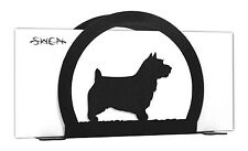 Swen Products Norwich Australian Terrier Black Metal Letter Napkin Card Holder