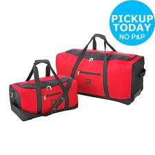 Go Explore 2 Piece Splashproof 90L Holdall Bag Set - Red