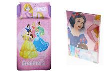 Completo Lenzuola Princess Power Principesse Disney per letto Singolo R263
