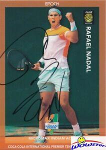 Rafael Nadal 2015 Epoch IPTL Tennis ON-CARD AUTOGRAPH #9/10 Shortprint 1/1 MT