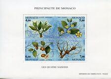 TIMBRE DE MONACO BLOC N° 68 ** FLORE / LES QUATRES SAISONS DU JUJUBIER