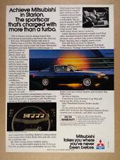1983 Mitsubishi Starion LS Turbo vintage print Ad