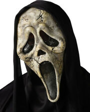Scream Ghost Face Zombie Mask With Shroud One Size