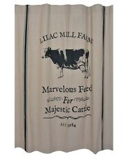 MAJESTIC CATTLE Shower Curtain Vintage Farmhouse style Cottage Country Chic Cow