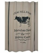 MAJESTIC CATTLE Shower Curtain Farmhouse Sawyer Mill Cottage Country Cow bath